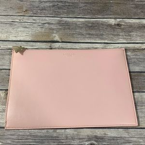 🔥🆕Givenchy Solid Pink Shark Tooth Leather Clutch